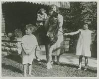 Mrs. Robinson with Pony and Joe Mendi