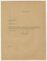 Letter from Hicks & Hicks to Ginn & Company.