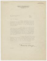 Letter from David N. Schaffer to Herbert Hicks