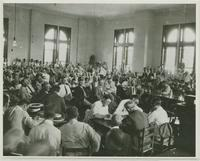 Scene in Courtroom During Trial