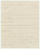 Letter and enclosed drawing from Abraham Ensminger to the County Attorney