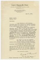 Letter from Lucia R. Maxwell to Hicks & Hicks