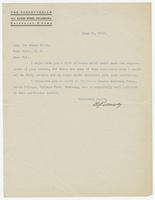 Letter from D.S. Kennedy to Ira Evans Hicks