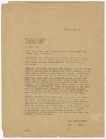 Letter from Hicks & Hicks to R.P. Taylor