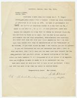 Letter from A.A. Stevens to Hicks & Hicks