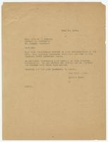 Letter from Hicks & Hicks to Willard J. Banyon
