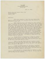Letter from W.B. Marr to  Messrs. Sue and Herbert Hicks, and Wallace Haggard