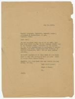 Letter from Hicks & Hicks to Messrs. Salinger, Reynolds, Meyers & Cooner