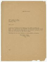 Letter from Hicks & Hicks to James M. Gray