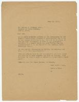 Letter from Hicks & Hicks to Melvin M. Johnson
