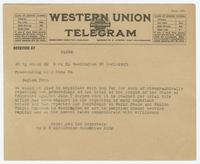 Telegram from Federated Law Reporters to Prosecuting Atty Rhea County
