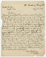 Letter from S.L. Walters to Hicks Brothers