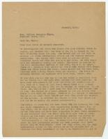 Letter from Sue K. Hicks to William Jennings Bryan