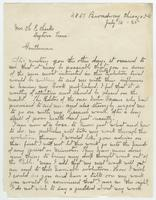 Letter from S.L. Walters to H.E. Hicks