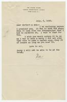 Letter from Ira Hicks to Herbert and Sue K. Hicks