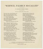 """Science, Falsely So-Called"""