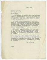 Letter from William Jennings Bryan to John W. Gaines