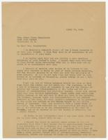 Letter from S. K. Hicks to Grace Bryan Hargreaves