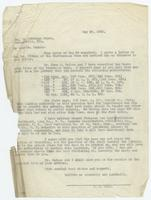 Letter from W.B. Marr to Wm. Jennings Bryan