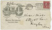 Envelope from Bryan to  Hicks & Hicks