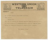 "Telegram from the Memphis Press to ""Rhea County"""