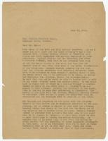 Letter from Hicks & Hicks to William Jennings Bryan