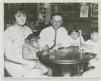 Robinson Family with Monkey Named Joe Mendi