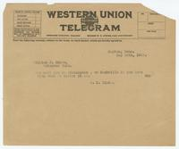 Telegram from Sue K. Hicks to William J. Bryan