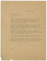 Letter from Herbert Hicks to Ira E. Hicks