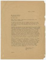 Letter from Hicks & Hicks to D.B. Traxler