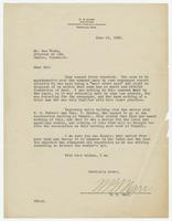 Letter from W.B. Marr to Sue Hicks