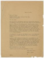 Letter from Hicks & Hicks to W.B. Marr