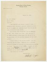 Letter from Wilbur F. Bryant to H. E. Hicks