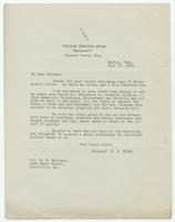 Letter from William Jennings Bryan to Col. P.H. Callahan