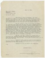 Letter from W.B. Marr to William Jennings Bryan