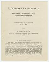Evolution Lies Prostrate