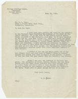 Letter from William Jennings Bryan to W.B. Marr