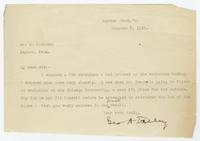 Letter from Geo. A. Talley to S. K. Hicks