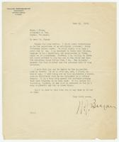 Letter from W.J. Bryan to Hicks & Hicks