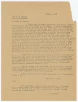 Letter from W.J. Bryan to F.R. Rogers, forwarded with note to Sue K. Hicks