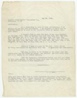 Letter from W.B. Marr to Lawyers Co-Operative Publishing Co.