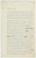 Draft of legal argument for prosecution in Scopes trial