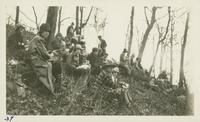 Eating Lunch on Mt. Harrison Feb 4-5-1928 (image number 37)