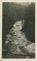 West Prong Little Pigeon River near Chimneys May 18-19-1929. High Water on account Heavy Rains Reason we did not go to Huggins Hell (image number 261)