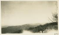 Looking back over State Line from Gregory Bald Feb 15-1931 (image number 673)