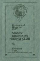 Program of Hikes for 1927: Smoky Mountains Hiking Club