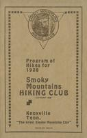 Annual Publication of the Smoky Mountains Hiking Club: Program of Hikes for 1928 and Other Information