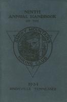 1934 Handbook of the Smoky Mountains Hiking Club