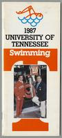 University of Tennessee Swimming-Diving media guide, 1986-1987
