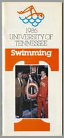 University of Tennessee Swimming-Diving media guide, 1985-1986